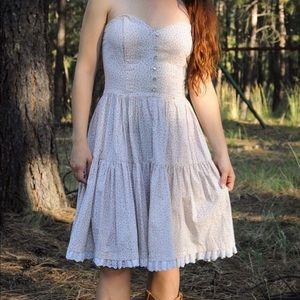 Vintage Floral and Lace Prairie Dress